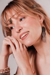 LEMPI-korvakorut, Vilja (antiikkipronssi, nahka)