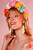 LEMPI-korvakorut, Vilja (vaaleankeltainen glitter, hopeoitu ketju)
