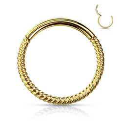 Lävistysrengas, Segment Hoop Rings Braided Steel GD