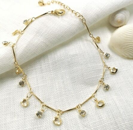 Nilkkakoru|HOLIDAY COLLECTION/Gold Anklet with Shiny Decoration