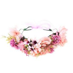 Kukkapanta/SUGAR SUGAR, Pink Meadow, vaaleanpunainen hiuspanta