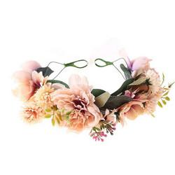 Kukkapanta/SUGAR SUGAR, Pink Meadow, persikkainen hiuspanta