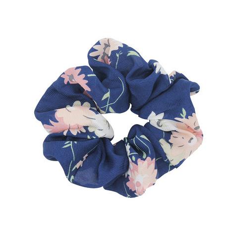 Donitsi/Scrunchie|SUGAR SUGAR, Blue Flower-kukkakuvioinen scrunchie
