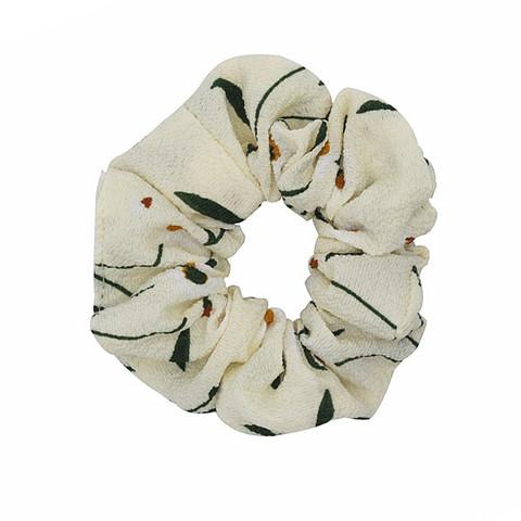 Donitsi/Scrunchie|SUGAR SUGAR, Pattern -kermanvalkoinen scrunchie