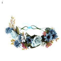 Kukkapanta/SUGAR SUGAR, Blue Dreams, sinisävyinen hiuspanta