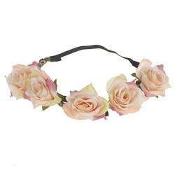 Kukkapanta|SUGAR SUGAR, Blush Peach Roses -hiuspanta