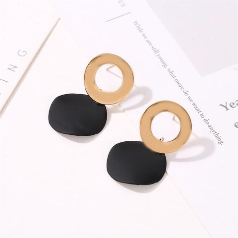 Nappikorvakorut, Minimalistic Black Earrings