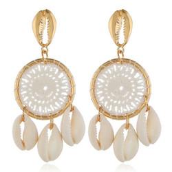 Korvakorut, White Dream Catcher Earrings with Seashells