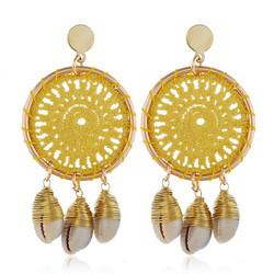 Korvakorut, Yellow Lace Dream Catcher Earrings