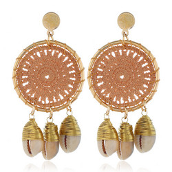 Korvakorut, Beige Lace Dream Catcher Earrings