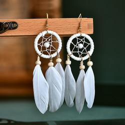 Korvakorut, White Dream Catcher Earrings