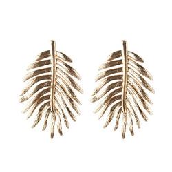 Statement-korvakorut, Large Bohemian Leaf Earrings