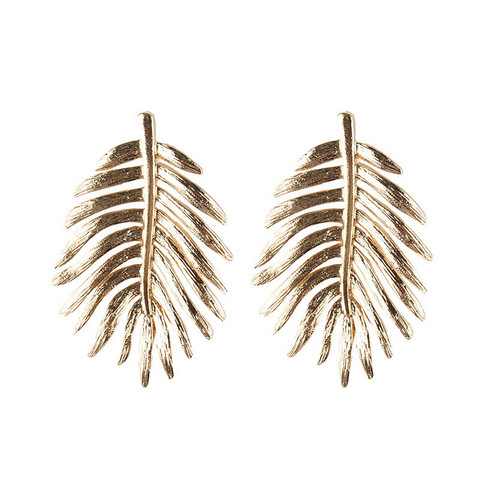 Statement-korvakorut, Large Bohemian Leaf Earrings