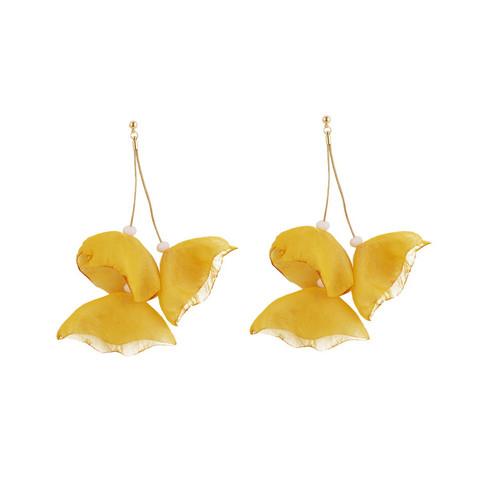 Korvakorut, FRENCH RIVIERA|Yellow Flower Earrings