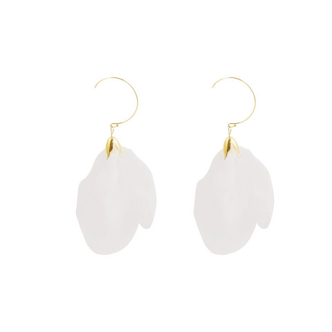 Korvakorut, FRENCH RIVIERA|Midsize Flower Earrings in White