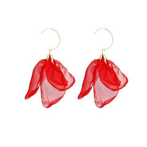 Korvakorut, FRENCH RIVIERA|Midsize Flower Earrings in Red