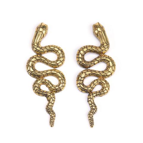 Statement-korvakorut, Large Snake Earrings in Gold