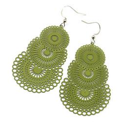 Korvakorut,  Ella Lace Earrings (oliivinvihreä)