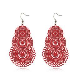 Korvakorut, Ella Lace Earrings (punainen)
