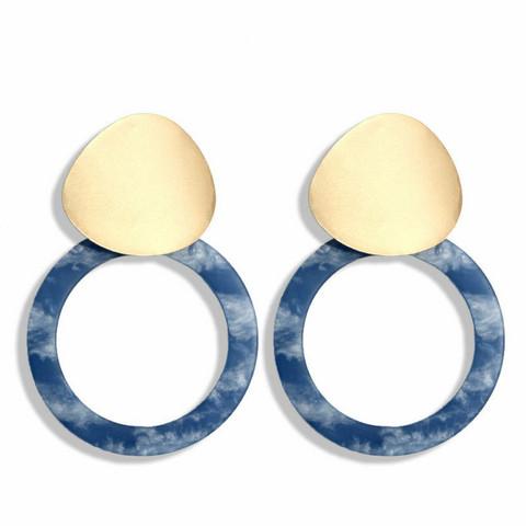 Korvakorut, Delicate Blue Marble Earrings