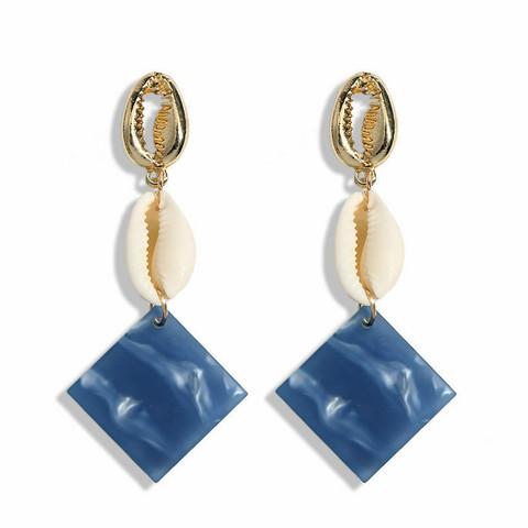 Korvakorut, Summer Blue Marble Earrings