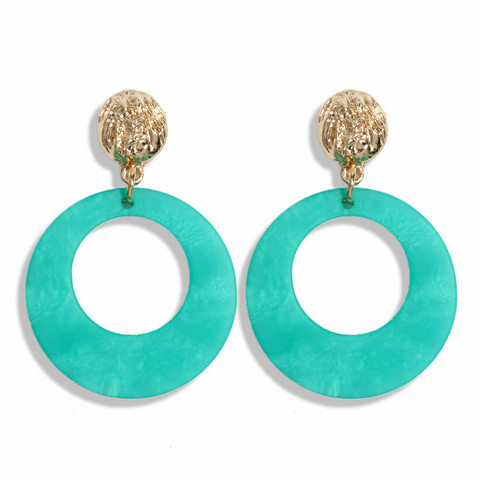 Korvakorut, Summer Green Marble Earrings