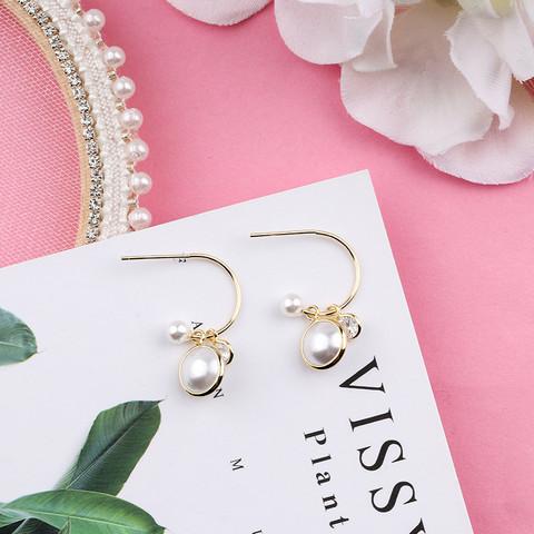 Korvarenkaat, Stylish Pearl Earrings