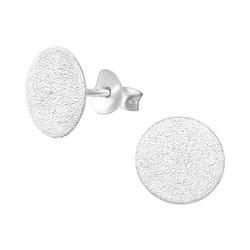 Hopeiset korvanapit, MINIMALISM|Flat Shimmering Ear Studs