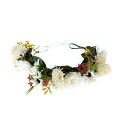Kukkapanta/SUGAR SUGAR, White Dreams, valkoinen hiuspanta