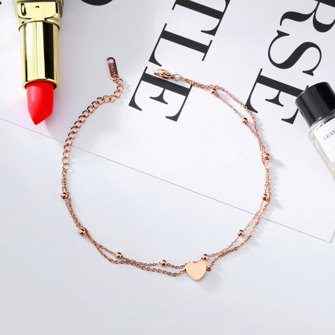 Nilkkakoru|HOLIDAY COLLECTION, Lovely Rosegold Anklet with Two Layers