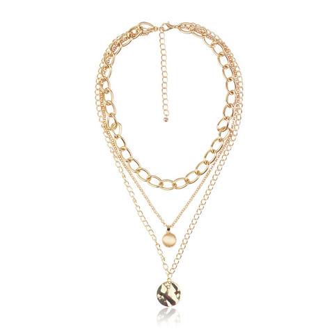 Kerroskaulakoru, FRENCH RIVIERA|Stylish Layer Necklace in Gold