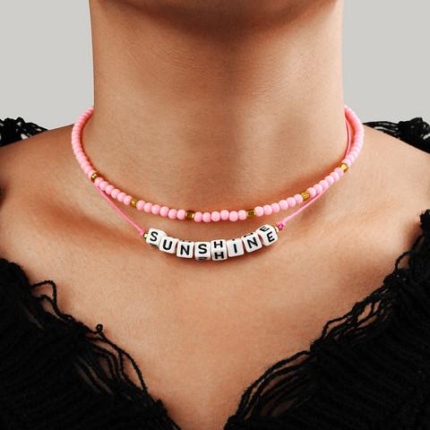 Kerroskaulakoru, PAPARAZZI 90's Sunshine Necklace in Pink