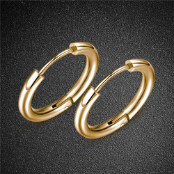 Kirurginteräsrenkaat, Classic Gold Steel Hoops