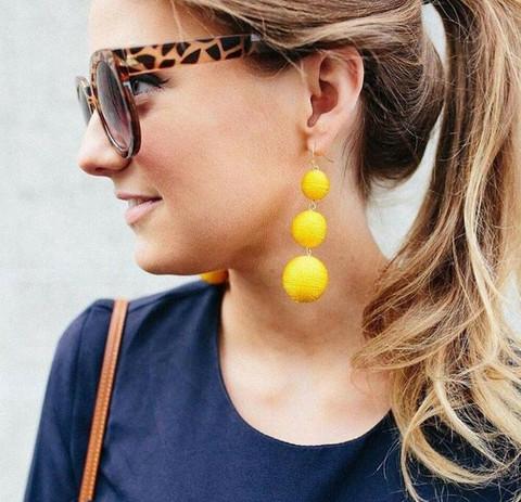 Korvakorut, Classic Retro Inspired Earrings in Yellow