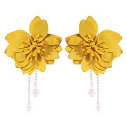 Korvakorut, FRENCH RIVIERA|Extra Large Yellow Flower Earstuds