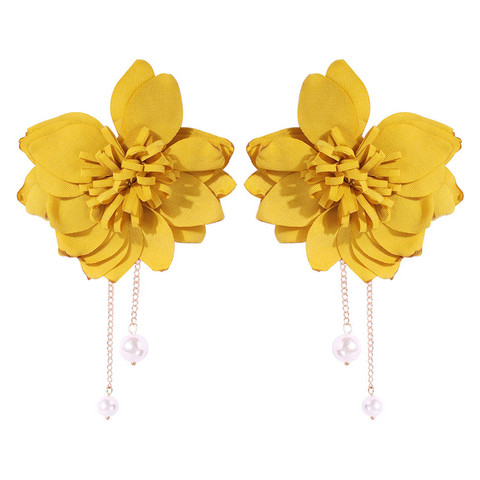 Korvakorut, FRENCH RIVIERA|Extra Large Yellow Flower Earstuds