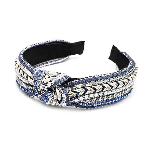 Solmupanta|SUGAR SUGAR, Embroided Headband- sinisävyinen hiuspanta