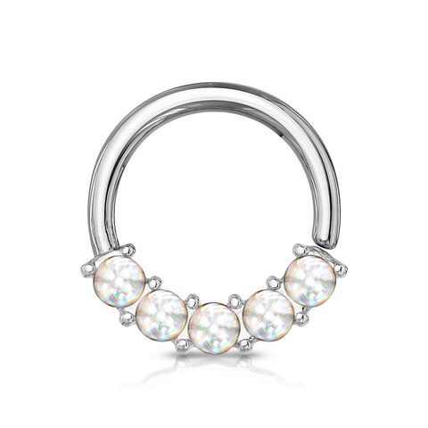 Lävistysrengas 1,2mm, Illuminating Front Facing Hoop Ring in Clear