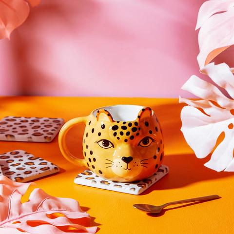 Muki, Sass & Belle|Leopard Love Shaped Mug