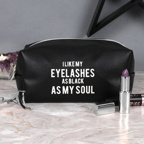 Meikkipussi, As Black As My Soul Makeup Bag