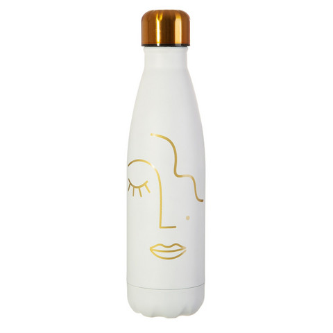 Juomapullo, Sass & Belle|Abstract Face Stainless Steel Bottle