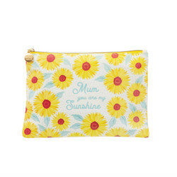 Meikkipussi, Sass & Belle|Sunflower Mum Cotton Pouch