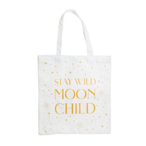 Kangaskassi, Sass & Belle|Celestial Moon Child Tote Bag