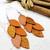 LEMPI-korvakorut, Vilja (oranssi, matta-glitter yhdistelmä)