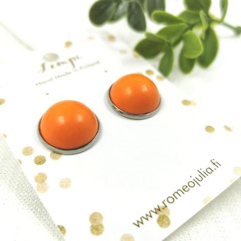 LEMPI-korvanapit, Veera 2.0 (oranssi, puinen)