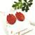 LEMPI-korvanapit, Tulppaani (punainen glitter)