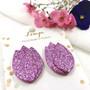 LEMPI-korvanapit, Tulppaani (vaaleanvioletti glitter)