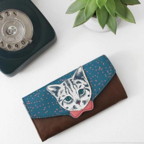 Lompakko, House of Disaster|Meow Wallet -kissalompakko