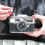 Taskumatti, House of Disaster|Black & White Camera Hip Flask