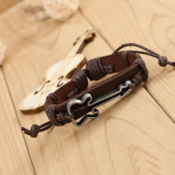 Nahkainen rannekoru, Brown Guitar Bracelet